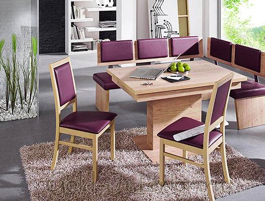 Кухонный уголок лилового цвета