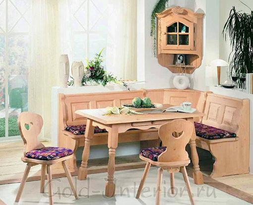 Кухонный уголок в стиле кантри