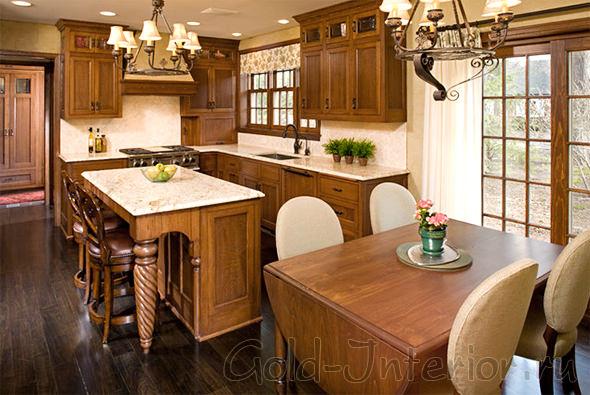 Кухонная мебель, характерная для стиля модерн