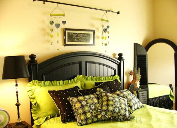 Лаконичная этника в интерьере спальни