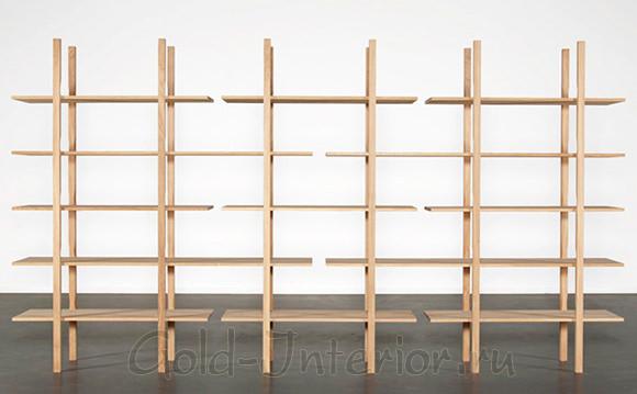 Люсьен Гумми - деревянные функциональные стеллажи