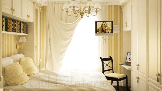 Маленькая спальная комната в классическом стиле