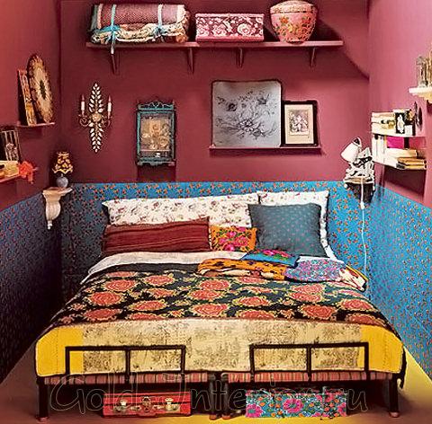 Маленькая спальня в марокканском стиле