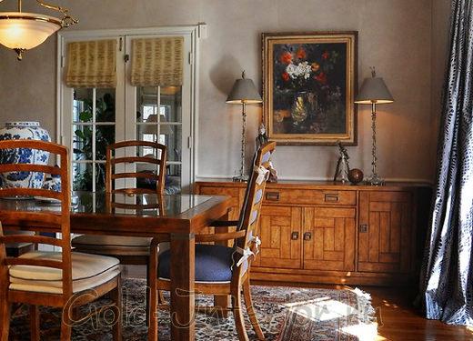 Масляная живопись в классической гостиной
