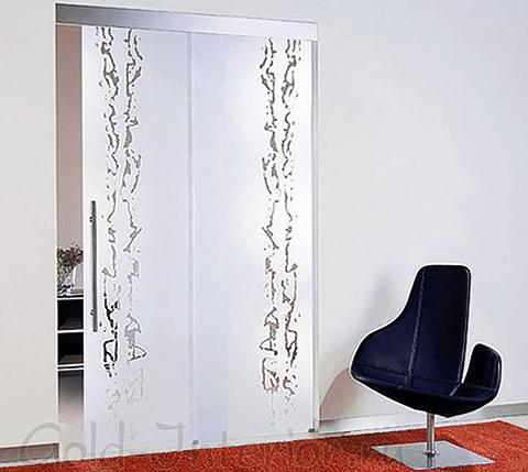 Матовая дверь с гравировкой
