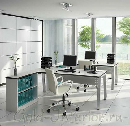 Мебель белого цвета в интреьере кабинета