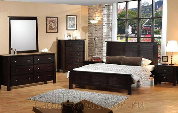 Мебель, оконные и картинные рамы цвета венге