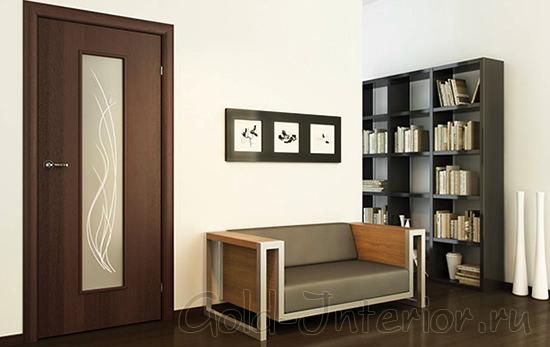 Межкомнатная дверь цвета венге