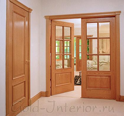 Межкомнатные двери - светлый коричневый цвет с рыжиной