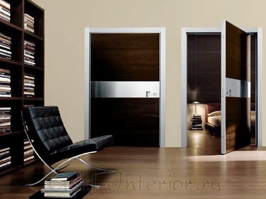 Межкомнатные двери с металличесикми вставками