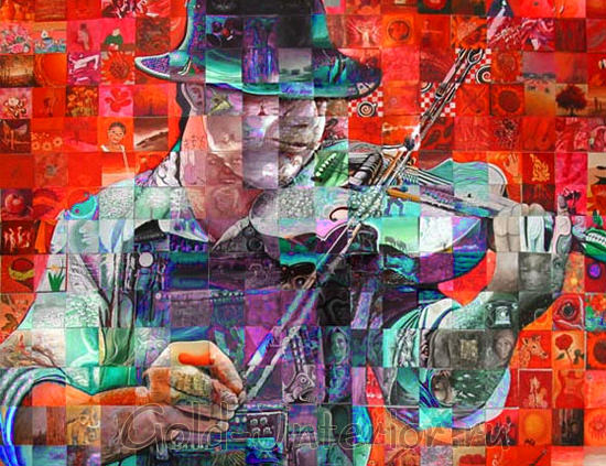 Картина-мозаика художника Льюиса Лаво