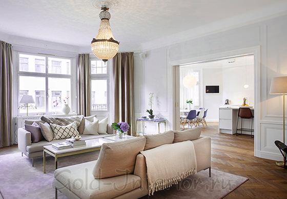 Мягкая мебель белых оттенков
