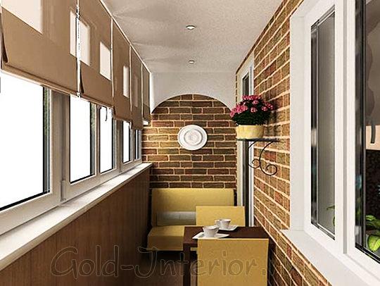 На фото - оформление балкона