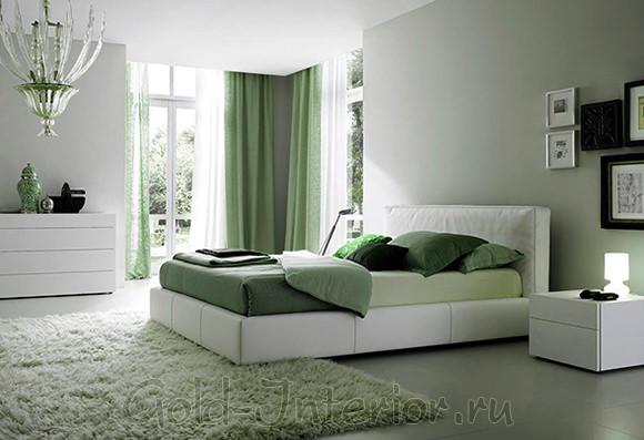 На фото белая мебель в интерьере