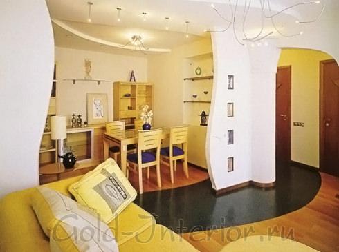На фотографии интерьер 1-комнатной квартиры в хрущёвке
