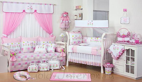 На фото комната для новорождённой девочки