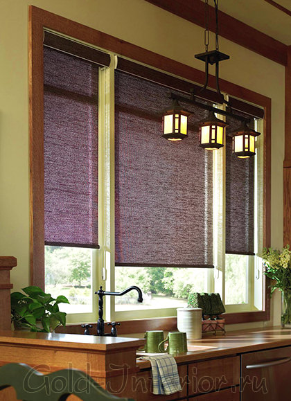 На фото римские шторы своими руками