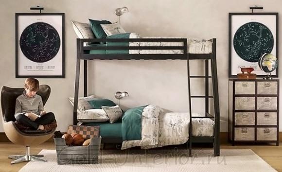 На фото спальня для двух мальчиков 8-12 лет