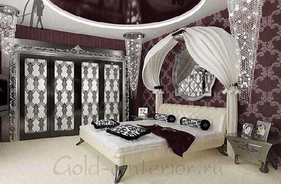На фото стиль ар деко в интерьере спальни