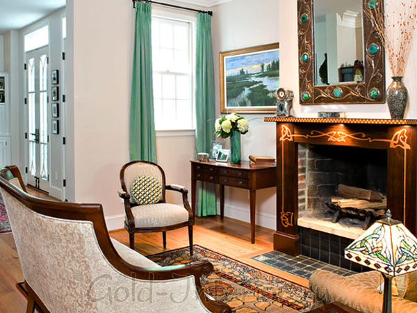 На фото стиль модерн в интерьере дома