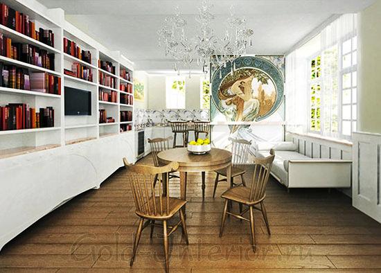 На фото стиль модерн в интерьере кухни