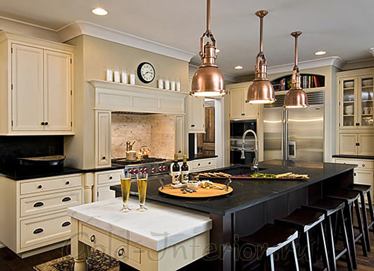 На фотографии кухня в стиле ар деко