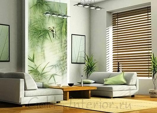 Настенный принт - зелёный бамбук