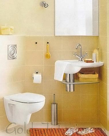 Навесная мини-раковина для туалета маленькиой площади
