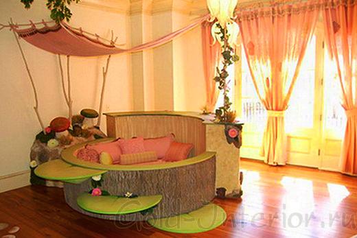 Необычная круглая кровать для детей