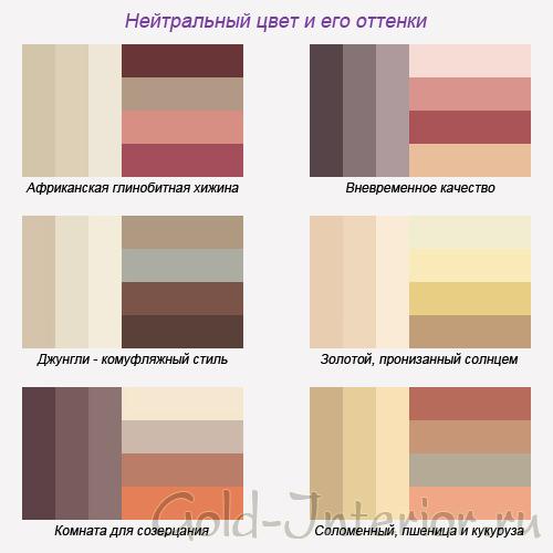 Нейтральный цвет и его оттенки в интерьере