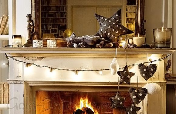Новогоднее украшение интерьера дома своими руками