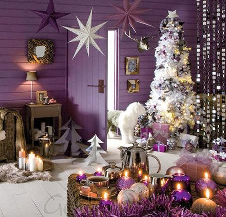 Новогоднее украшение комнаты 2013