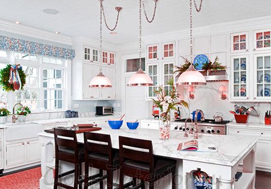 Новогодние аксессуары в интерьере кухни