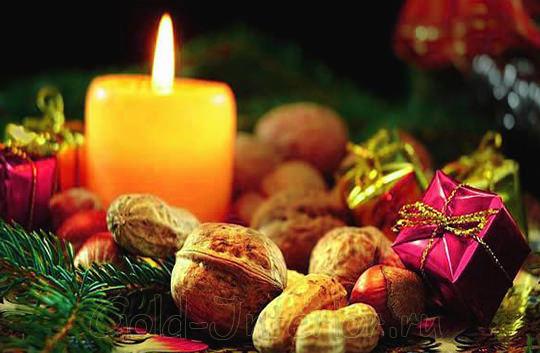 Новогодние свечи для интерьера