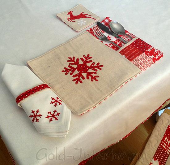 Новогодний текстиль для сервировки стола