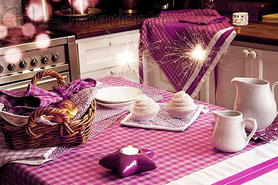 Новогодний текстиль на кухне