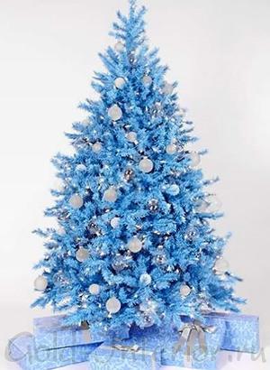 Новогодняя ёлка синего цвета