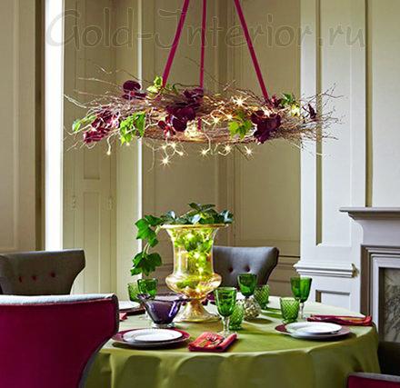 Новогодняя посуда из цветного стекла