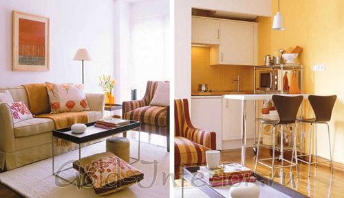 Объединяем гостиную с кухней