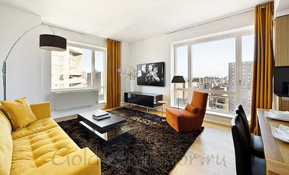 Оформление дизайна интерьера однокомнатной квартиры