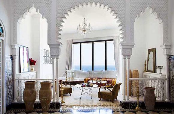 Оформление дизайна интерьера в марокканском стиле