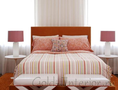 Оранжевый цвет в аксессуарах и мебели