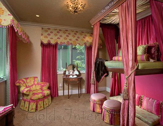 Оригинальный дизайн девичьей комнаты