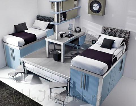 Оригинальный дизайн комнаты для мальчиков