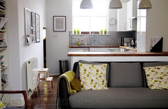 Освещение в дизайне кухни и гостиной