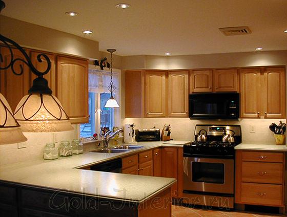 Освещение в интерьере кухни