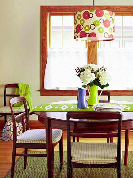 Отдельный обеденный стол от рабочей зоны