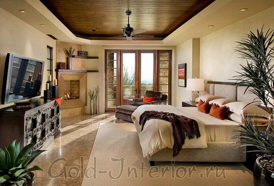Оттенки коричневого цвета в декорировании спальни