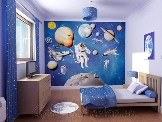 Оттенки синего цвета и космос