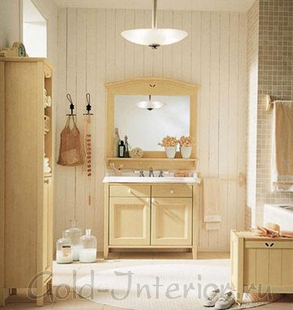 В интерьере ванной оттенок бежевого цвета - экрю